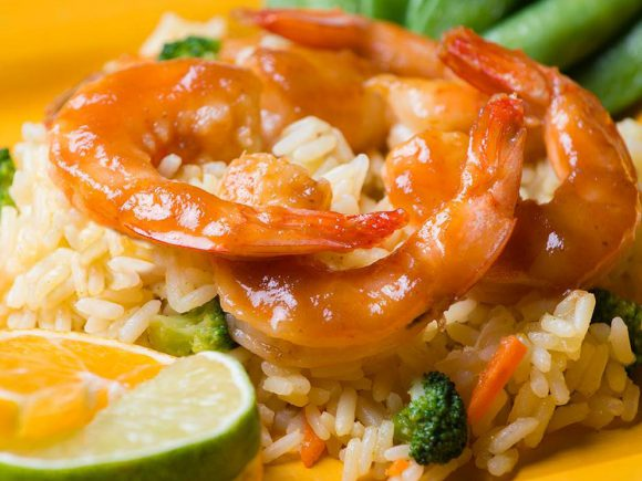 Citrus Apple Butter Shrimp