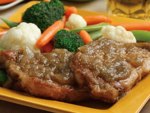 Pork Chops and Apple Sauce