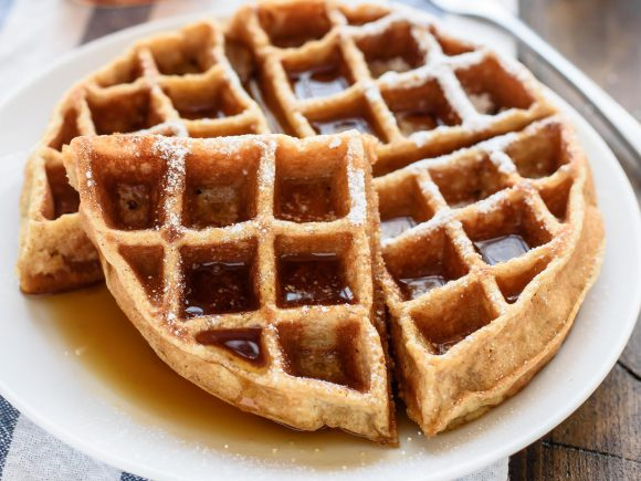 Apple Sauce Whole Wheat Waffles