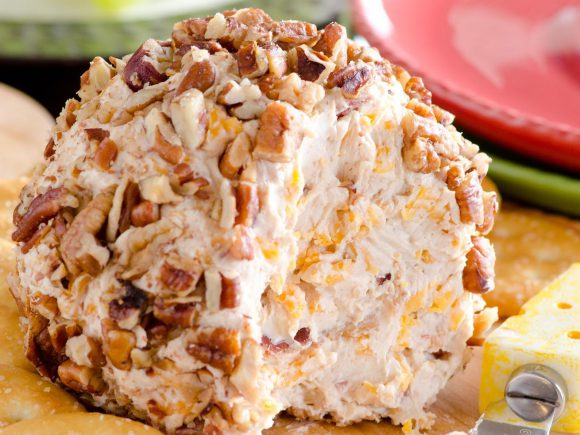 Pecan Crusted Bacon Cheese Ball