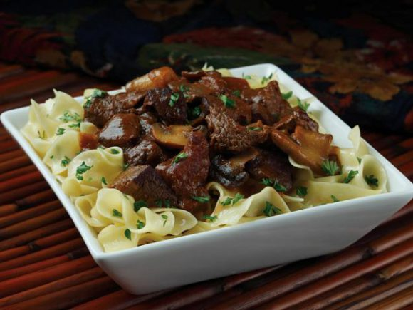 Apple-Mushroom Slow Cooker Swiss Steak