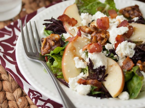 Apple, Bacon, & Goat Cheese Salad