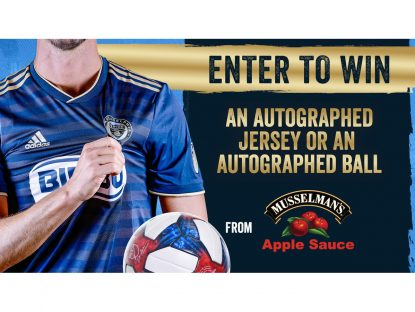 WIN an Autographed Philadelphia Union Jersey or Ball
