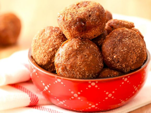 Apple Butter Baked Doughnut Holes