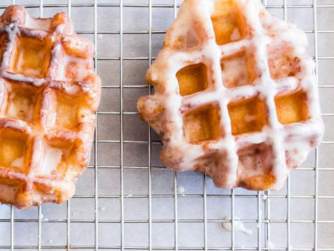 Apple Butter Waffle Donuts