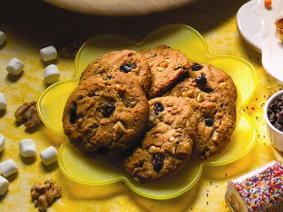 Raisin Nut Spice Cookies